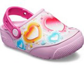 Kids' Crocs Fun Lab Hearts Lights Clog