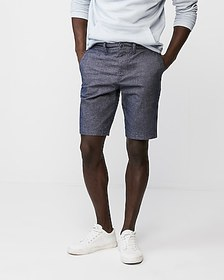 Express classic fit 10 inch stretch textured short