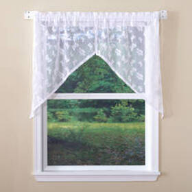 Butterfly Lace Swag Curtain