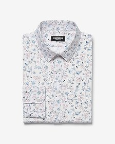Express extra slim floral wrinkle-resistant perfor