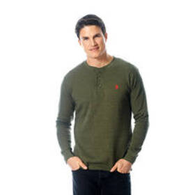 Mens U.S. Polo Assn.® Solid Thermal 3 Button Up He
