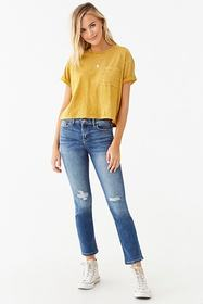 Forever21 Distressed Ankle Jeans