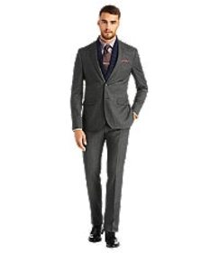 Jos Bank 1905 Slim Fit 2-Button Wool Suit with Pla