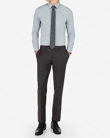 Express slim charcoal wool-blend stretch suit pant