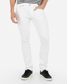 Express skinny white 365 comfort stretch+ jeans