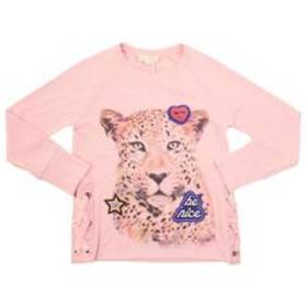 Girls(7-16) Jessica Simspon Leopard Side Lace Up T