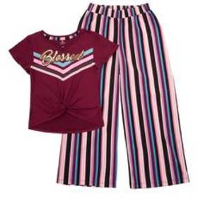 Girls (7-16) One Step Up Blessed Top & Stripe Pala