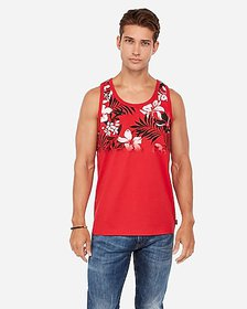 Express floral ombre jersey tank