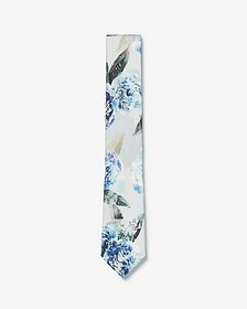 Express narrow exploded floral silk tie