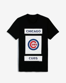 Express chicago cubs mlb crew neck graphic t-shirt