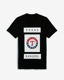 Express texas rangers mlb crew neck graphic t-shir