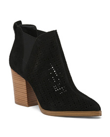 MARC FISHER Suede Ankle Booties