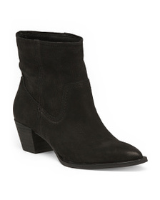 DOLCE VITA Pointy Toe Stacked Heel Suede Boots