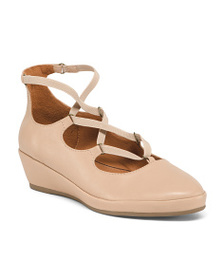 L AMOUR DES PIEDS Leather All Day Comfort Wedges