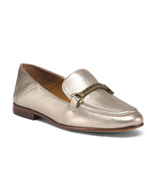 PATRICIA NASH Leather Collapsable Heel Loafers