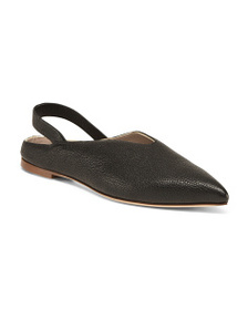 SPINNAKER Made In Italy Slingback Leather Flats