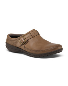 MERRELL Breathable Leather Comfort Clogs