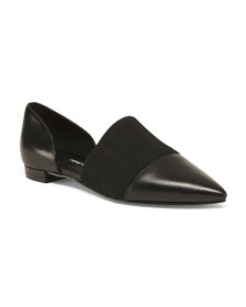 NINE WEST Pointy Toe Leather Flats