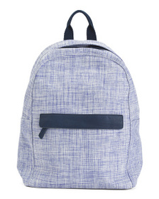 BARNEYS NEW YORK Plaid Woven Fabric Backpack