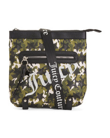 JUICY COUTURE Star Studded Large Camo Print Crossb