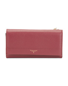 T TAHARI Expandable Leather Wallet
