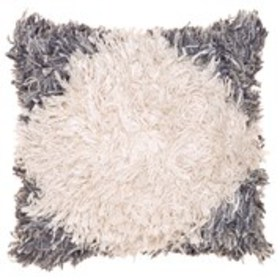 CATHERINE MALANDRINO Diamond Shag Throw Pillow 20""