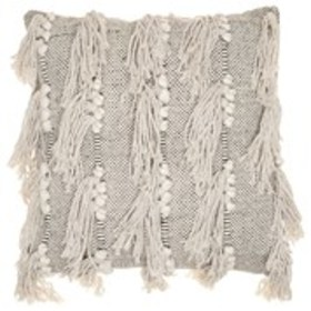 CATHERINE MALANDRINO Tassel Striped Woven Throw Pi