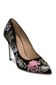 RON WHITE Shana Flower Embroidered Pump