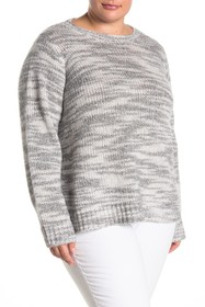 Eileen Fisher Round Neck Merino Wool Blend Knit To