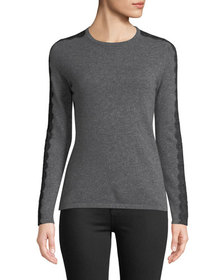 Neiman Marcus Cashmere Collection Crewneck Cashmer