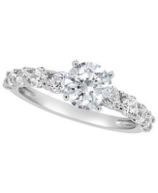 Certified Round Diamond Engagement Ring (2 ct. t.w