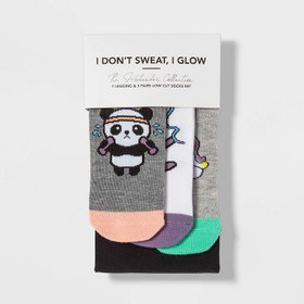 "Women's Socks and Leggings Set ""I Don't Sweat I Gl"