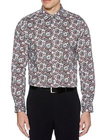 Perry Ellis Floral Paisley Printed Button-Down Shi