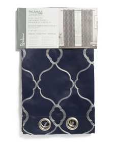 RESIDENCE 38x84 Set Of 2 Belmont Embroidered Curta