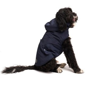 Royal Animals Dog Coat with Removable Hood - Blue