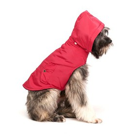 Royal Animals Dog Coat with Removable Hood - Pink