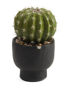 SIENA 12.5in Faux Cactus In Cement Pot