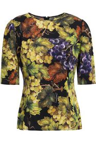 DOLCE & GABBANA Printed stretch-silk top