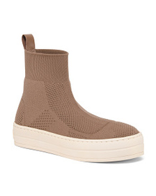 JSLIDES Knit High Top Sneakers