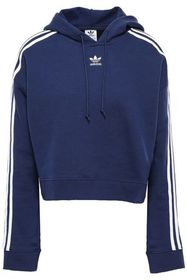 ADIDAS ORIGINALS Cropped striped French cotton-ter