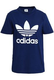 ADIDAS ORIGINALS Logo-printed stretch-cotton jerse