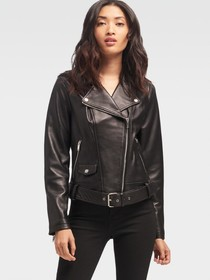 Donna Karan LEATHER MOTORCYCLE JACKET
