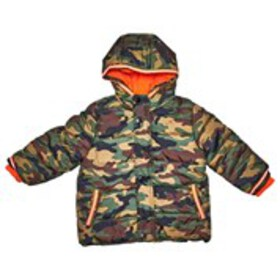 VERTICAL 9 Baby Boys Camo Print Puffer Coat with H