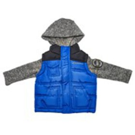 WEATHERPROOF Baby Boys 2-Fer Puffer Vest with Knit