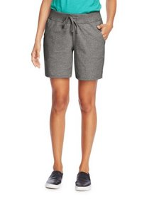 Hanes Womens Cotton Short with Pockets and Drawstr