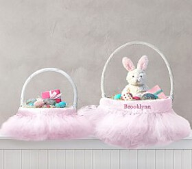Pottery Barn Tulle Easter Basket Liners