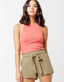 OTHERS FOLLOW Ribbed Womens Halter Top_