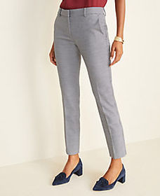 The Ankle Pant in Plaid - Curvy Fit