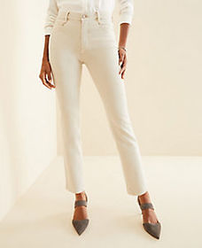 Sculpting Pockets High Rise Straight Leg Jeans in