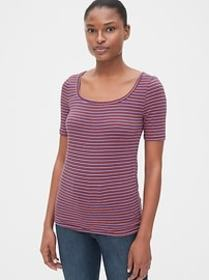 Featherweight Stripe Square-Neck T-Shirt